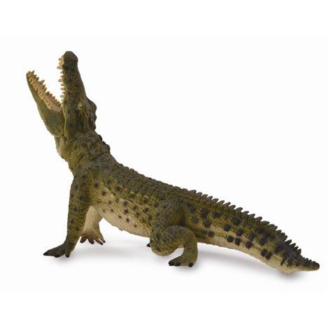 Figurina pictata manual Crocodil de Nil cu mandibula mobila