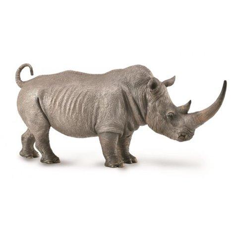 Figurina pictata manual Rinocer Alb