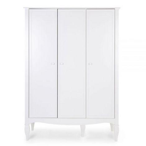Dulap Childhome Romantic 136.8x60.3x190 cm, MDF Alb