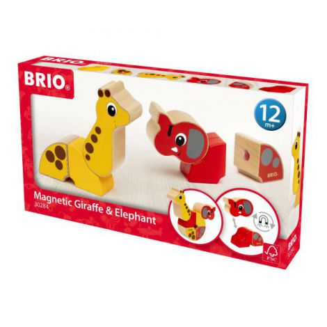 Girafa si elefant magnetici 30284 Brio