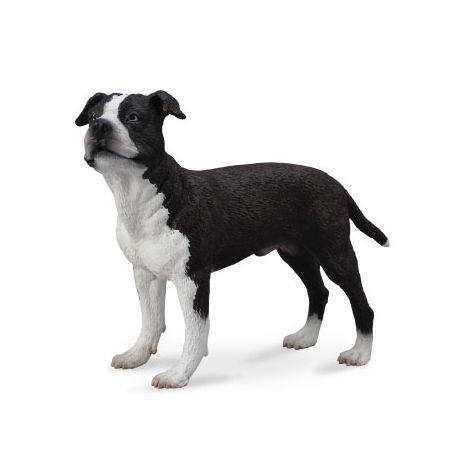 Figurina pictata manual caine Staffordshire Terrier
