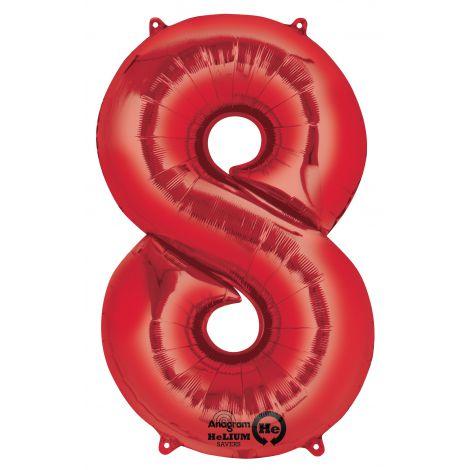 Balon super shape rosu 8