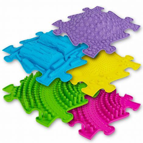 Covoras ortopedic senzorial puzzle Set 3D Extins A Muffik