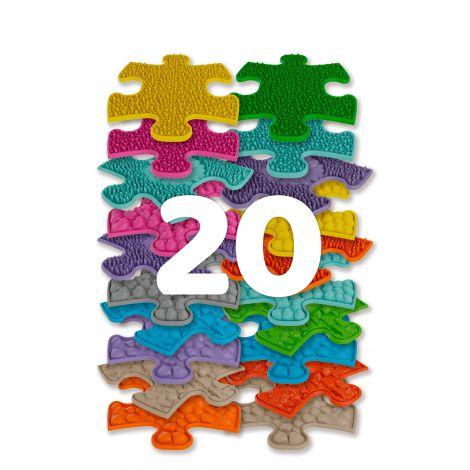 Set covorase ortopedice senzoriale puzzle Mini Puzzle Muffik