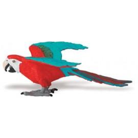 Papagal ara cu aripi verzi - Figurina