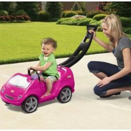 Masina Mobile Tikes cu maner pentru impins Roz