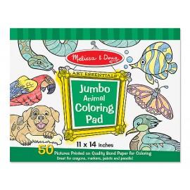 Caiet jumbo cu planse pentru colorat - Animale