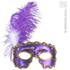 Masca Venetiana Mov - Accesoriu carnaval