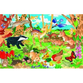 Puzzle gigant de podea Padurea - Woodland