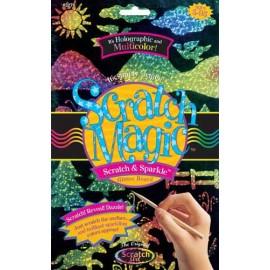 Set desen prin razuire Multicolor cu sclipici