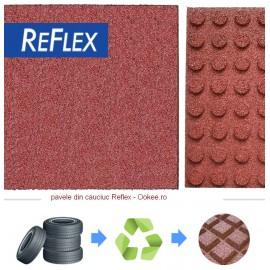 Pavele cauciuc Reflex tip Placa protectie la cadere 3 cm Rosu