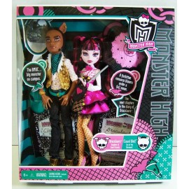 Draculaura si Clawd Wolf - Papusi Monster High