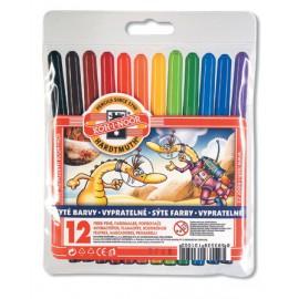 Set carioci 12 culori monstruleti - Koh I Noor