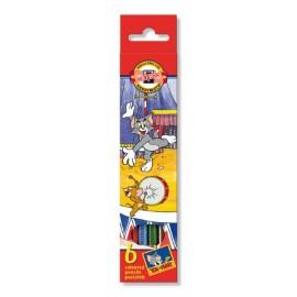 Set 6 Creioane Colorate Tom Si Jerry - Koh I Noor
