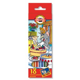 Set 18 creioane colorate Tom si Jerry - Koh I Noor