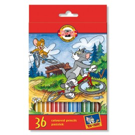 Set 36 creioane colorate Tom si Jerry - Koh I Noor