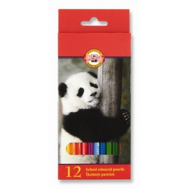 Set 12 creioane colorate zoo - Koh I Noor