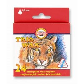 Set 24 creioane cerate subtiri - Koh I Noor