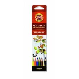 Set 6 creioane colorate acuarel Mondeluz - Koh-I-Noor