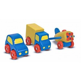 Set vehicule din lemn - Melissa & Doug