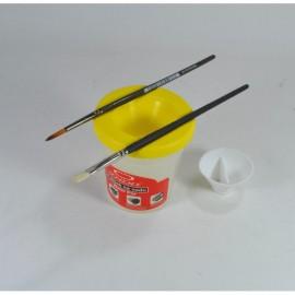 Pahar Plastic, pentru pictura, cu suport pensula - Koh I Noor