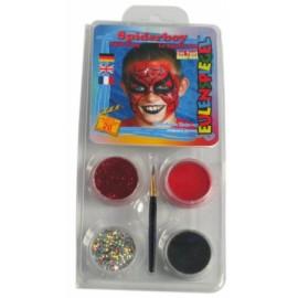 Set de 4 culori pentru pictura pe fata facepaint Spiderboy