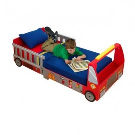Pat copii Camion de pompieri