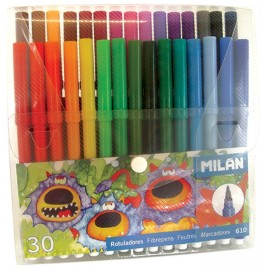 Set 30 carioci colorate cu varf conic - Milan