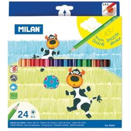 Set 24 creioane colorate - Milan