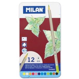 Set 12 creioane colorate - Milan