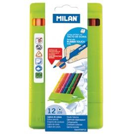 Set 12 creioane in cutie de plastic - Milan