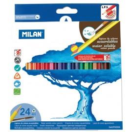 Set 24 creioane colorate acuarela - Milan