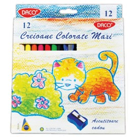 Set 12 creioane colorate hexagonale Maxi