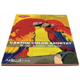 Carton A4 color asortat 30 coli