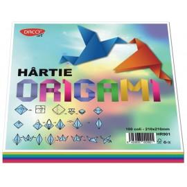 Hartie Origami 21 X 21cm 100 Coli imagine