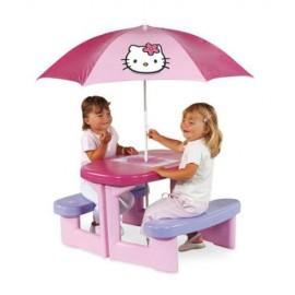 Smoby - Masuta picnic cu umbrela Hello kitty