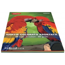 Hartie A4 color asortata 50 coli