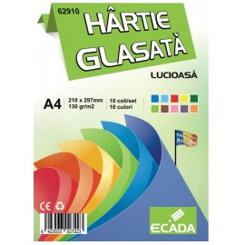 Hartie glasata 10 coli - Ecada