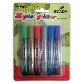 Lipici glitter Ecada - 6 buc