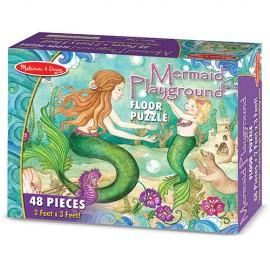 Puzzle de podea Sirene la joaca - Melissa & Doug