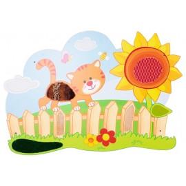 Decor pentru perete – Pisicuta pe gard