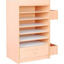 Mobilier functional pentru stocarea articolelor scolare