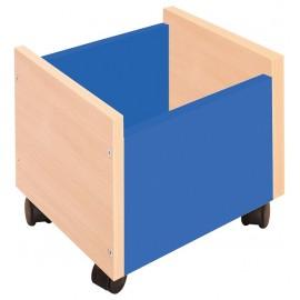 Cutie depozitare cu roti - albastru