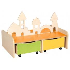 Mobilier pentru joaca, cu sertare – Orasul