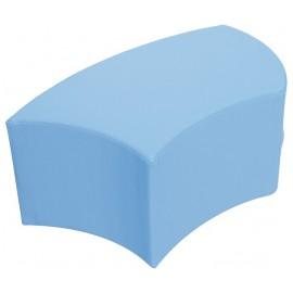 Taburet din spuma Carl - albastru deschis