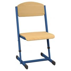 Scaun gradinita cu inaltime reglabila - albastru marimea 1-2