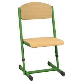 Scaun scolar - T - inaltime reglabila - marimea 5 - 6 - Verde