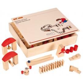 Joc educativ pentru gradinita Domino din lemn - Educo