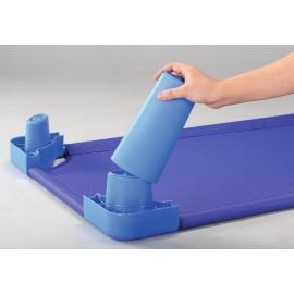 Picioare pentru inaltare pat - albastru