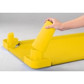 Picioare pentru inaltare pat - galben